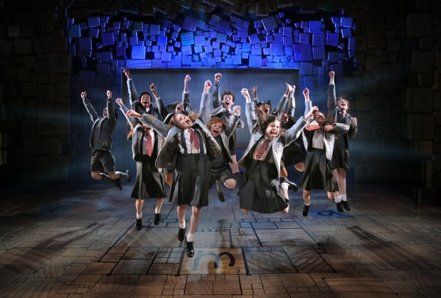 "The cast of the national touring production of ""Matilda, the Musical."" Photo By Joan Marcus"
