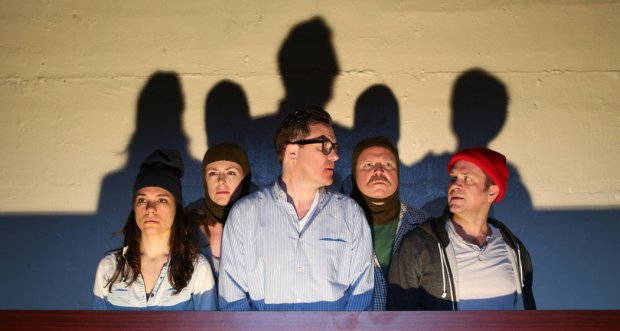 "The ensemble in Bedlam's ""Twelfth Night."" Photo: Central Square Theater"
