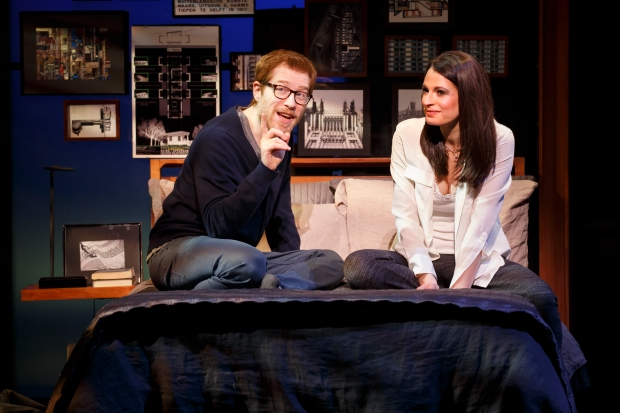 "Anthony Rapp and Jackie Burns in a scene from ""If/Then."" Photo: Joan Marcus"