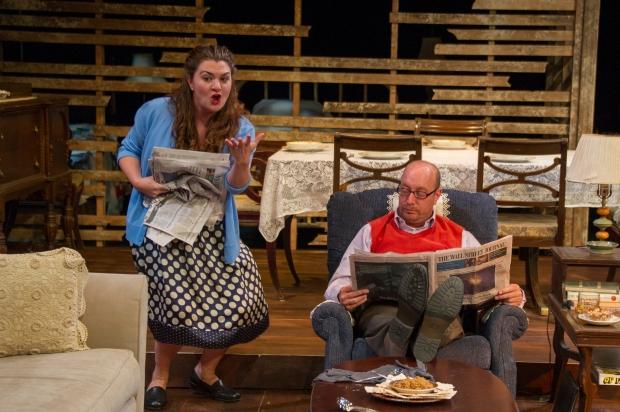 "Bonnie (Brianne Beatrice) and Herb (Gabriel Kuttner) in ""The Last Schwartz.""  Photo by Kippy Goldfarb Carolle Photography"