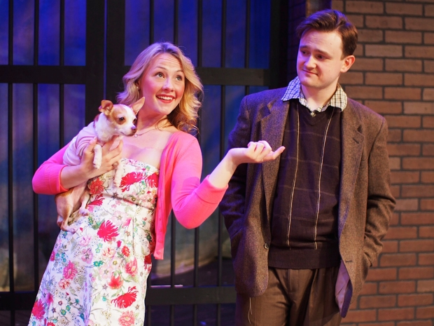 Sarah Kelly as Elle Woods and Christopher Spencer as Emmett in Legally Blonde. Photo: Zoe Bradford