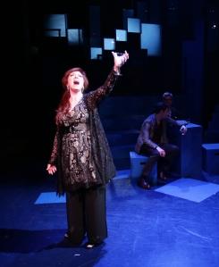 "Leigh Barrett as Joanne with John Ambrosino and Will McGarrahan in ""Company."" Photo: Mark S. Howard"