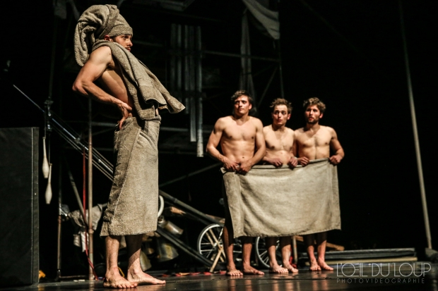 "The company of ""Machine de Cirque."" Photo:   L'Oeil Du Loup Photography"
