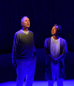 "David (Will Lyman)  and Mr. Takayama (Ron Nakahara) in ""Man in Snow."" Photo: Gary Ng"