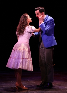 Evy Ortiz (Maria) and Bronson Norris Murphy (Tony) in WEST SIDE STORY playing at North Shore Music Theatre thru November 20. Photo©Paul Lyden