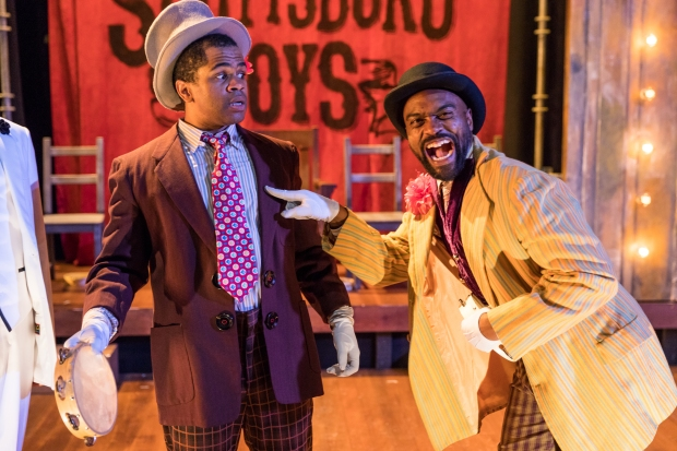 "Brandon G. Green and Maurice Emmanuel Parent in ""the Scottsboro Boys."" Photos by Nile Hawver / Nile Scott Shots."