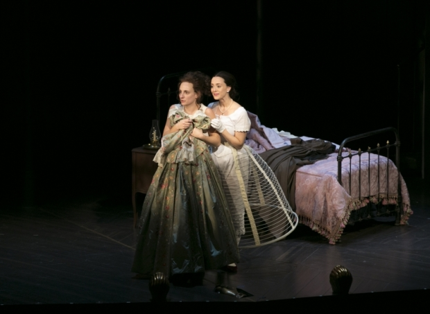"Tracee Chimo and Christina Bennett Lind in ""Fingersmith."" Photo: Evgenia Eliseeva"