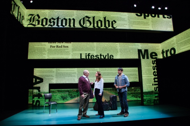 "Joel Colodner, Veronika Duerr and John Gregorio in Going To See The Kid."" Photo by Meagan Moore"