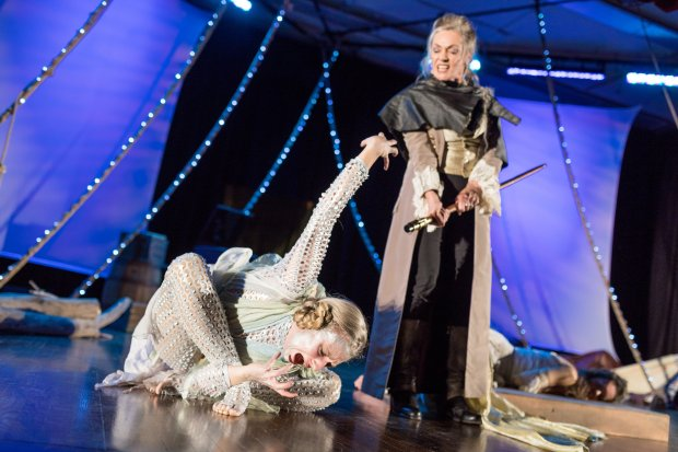 "Samantha Richert (Ariel) and Marya Lowry (Prospero) in ""The Tempest."" Photo: Nile Scott Shots"