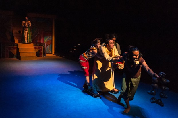 (From Left to Right) Thomas Derrah, Lynn R. Guerra, Shanae Burch, Jesse Garlick & Harsh J. Gagoomal in JOURNEY TO THE WEST. . Photo: A.R. Sinclair Photography.