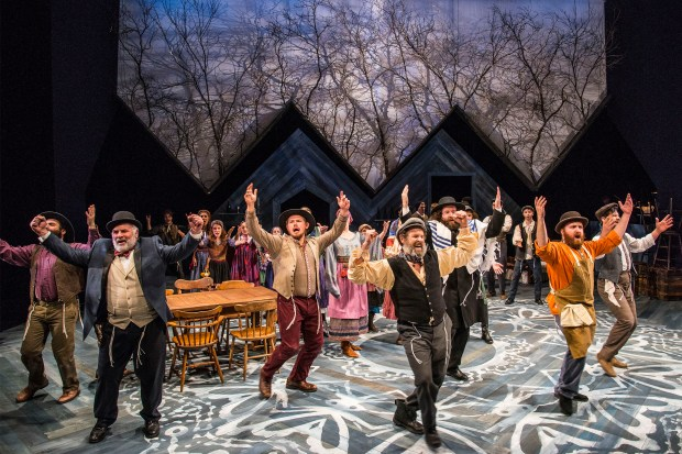"Tevye (Jeremiah Kissel) leads the ensemble of ""Fiddler on the Roof"" in ""To Life."" Andrew Brilliant/Brilliant Pictures"