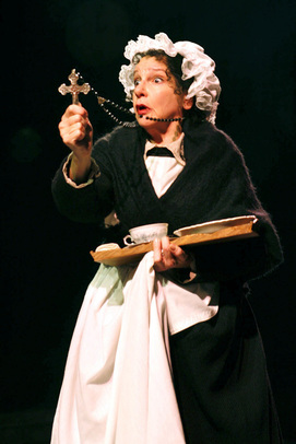 Cheryl McMahon ad Mrs. Dilber in A CHRISTMAS CAROL at North Shore Music Theatre - Dec 9 - 23. Photo©Paul Lyden