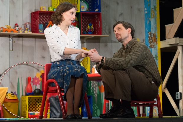 "Marianna Bassham and Lewis V. Wheeler in ""Hand to God."" Photo: Glenn Perry."