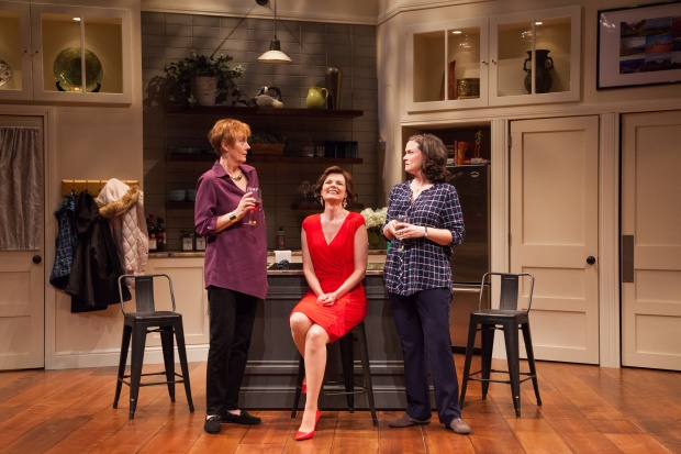 "Julia Brothers, Gail Rastorfer, and Jessica Wortham in ""Women in Jeopardy!"" ""Photo by Meghan Moore."