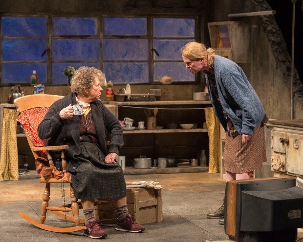 "Marie Mullen as Mag Folan and Aisling O'Sullivan as Maureen Folan in ""The Beauty Queen of Leenane."" Photo Credit: Craig Schwartz"