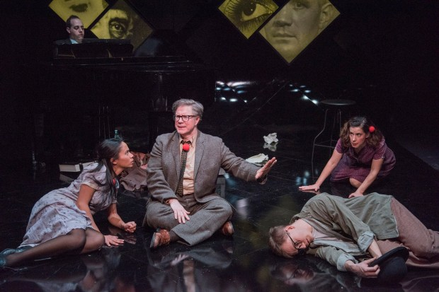 "L-R: Carla Martinez, Brad Daniel Peloquin, Jake Murphy, and Christine Hamel in ""Brecht on Brecht."" Andrew Brilliant / Brilliant Pictures."