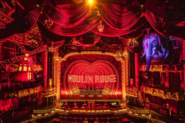 Colonial Re Lit For Moulin Rouge The Musical
